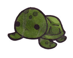 Chibi Sea Turtle by Xeohelios