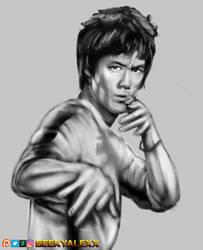 Bruce lee by GeekyAlexx