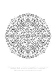 Free Abstract Mandala Colouring Page Download by LJKnightArt