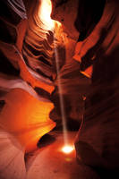Antelope Canyon Light Shaft 1 by AaronPlotkinPhoto