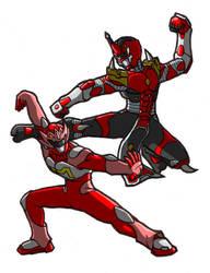 Seiranger VS Chainranger color by kagami5566