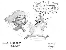 Inktober 2018 - 05 - Chicken by Nartance