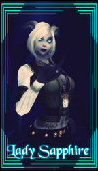 LadySapphire - Labeled/First attempt by LadyDaemontus