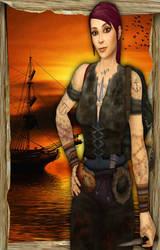 Ashley  Finished Portrait by LadyDaemontus