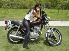 motorcycle girl by dbr-neko