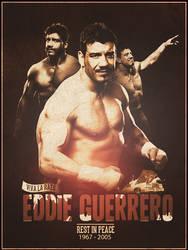 Eddie Guerrero - Poster by CagedVenom