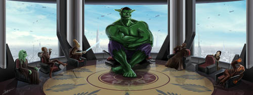 Hulk - Yoda by xben