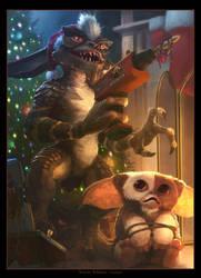 Gremlins Xmas - fan-art by LozanoX