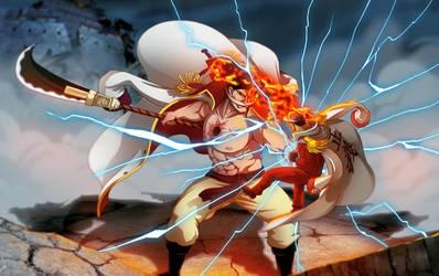 - Whitebeard vs Akainu - by coreymill