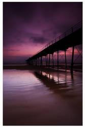 Saltburn Pier at Dawn by didjerama