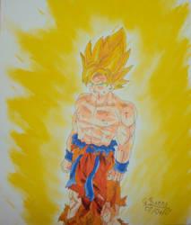SSJ Goku by naruto-kurama789