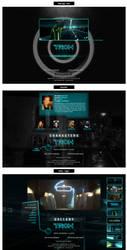 Webdesign Tron: Legacy by ori-sk