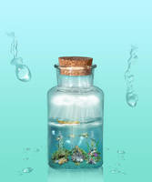 Ocean In Bottle by Aysha1994raven