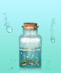 Ocean In Bottle by Aysha1994raven