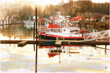 Sunrise At The Dock by brush4u