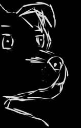 Anthro sketchy dog by kon-rocks