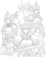 Valkyrie Sisters by eveyw