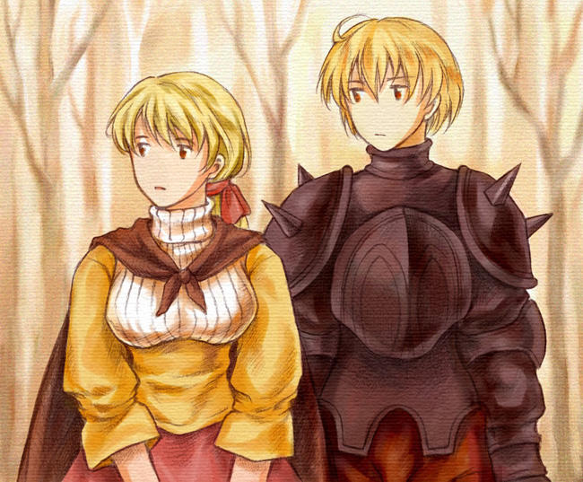 FF Tactics - Ramza and Alma by eveyw