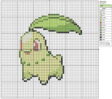 152 - Chikorita by Makibird-Stitching