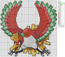 250 - Ho-oh by Makibird-Stitching