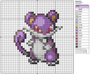 19 - Rattata by Makibird-Stitching