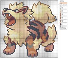 59 - Arcanine by Makibird-Stitching