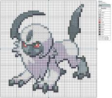 359 - Absol by Makibird-Stitching