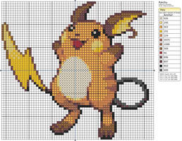 26 - Raichu by Makibird-Stitching