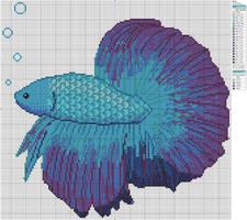 Betta Fish by Makibird-Stitching