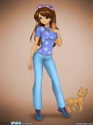 Yuna Jordan and her cat Anna by HopesDestiny