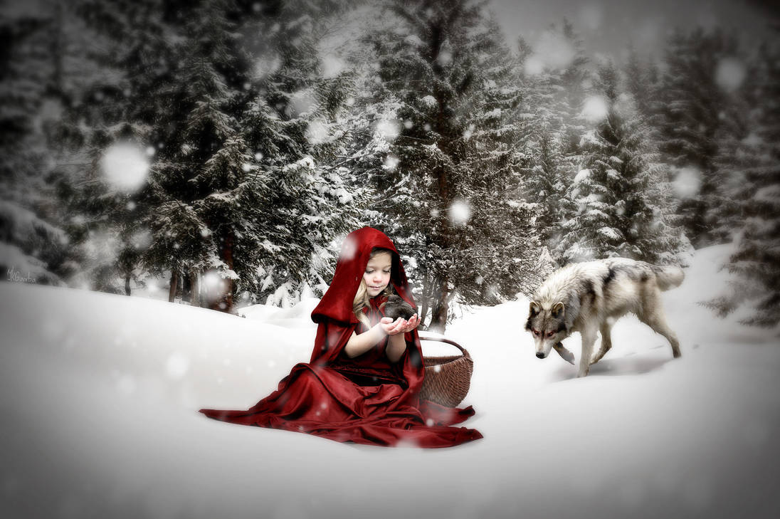Innocent Red Riding Hood by JKGamba