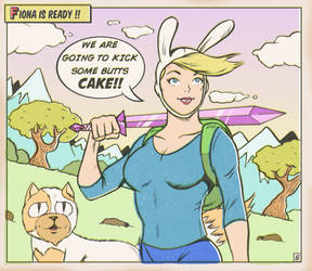 ADVENTURE TIME FIONA AND CAKE by paintmarvels