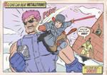 GOKU VS MAJOR METALLITRON by paintmarvels