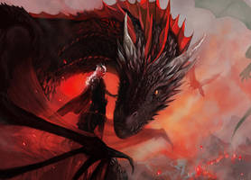 Daenerys and Drogon by kittrose