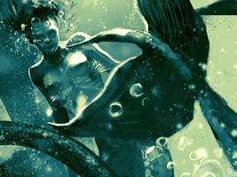 Mermaid sketch by kittrose