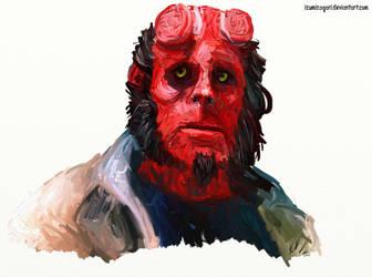 Hellboy by izumizagari