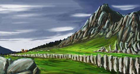 Rocky Landscape by izumizagari