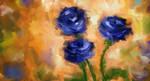 Blue Roses by izumizagari