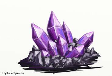 Purple Crystals by izumizagari