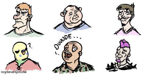 Faces by izumizagari