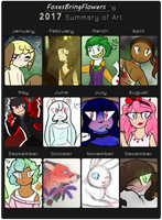 2017 Summary of Art by FoxesBringFlowers