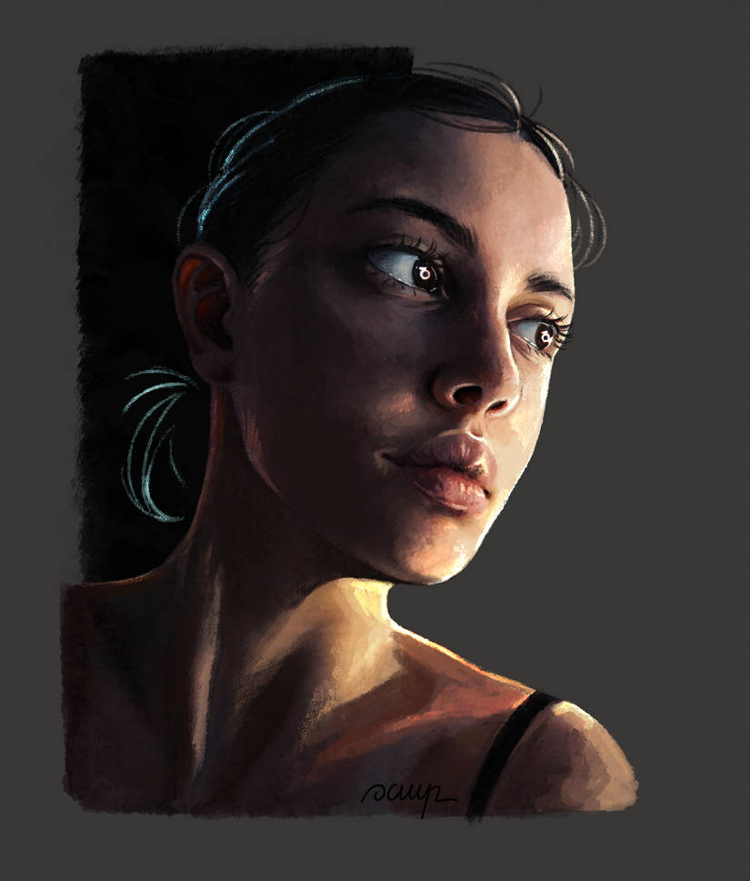 Viola Speedpaint Portrait by sara-scmp