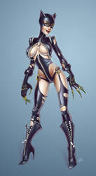 Cat Woman (Trinquette weekly challenge) by essentialsquid