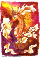Hippocampe Floral by Ozmoze-Land