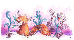 panda roux by Ozmoze-Land