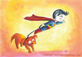 Superman - Serie : Young heroes and their dog by Ozmoze-Land