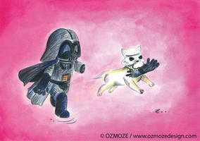 Starwars dark vador and dog (Serie) by Ozmoze-Land