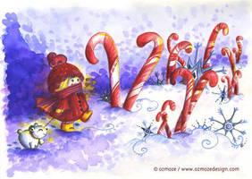 Champs d'hiver by Ozmoze-Land