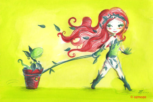 Bad Girls and their Dog  Poison Ivy Serie by Ozmoze-Land