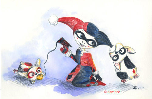 Bad Girls and their Dog Harley Quinn Serie by Ozmoze-Land